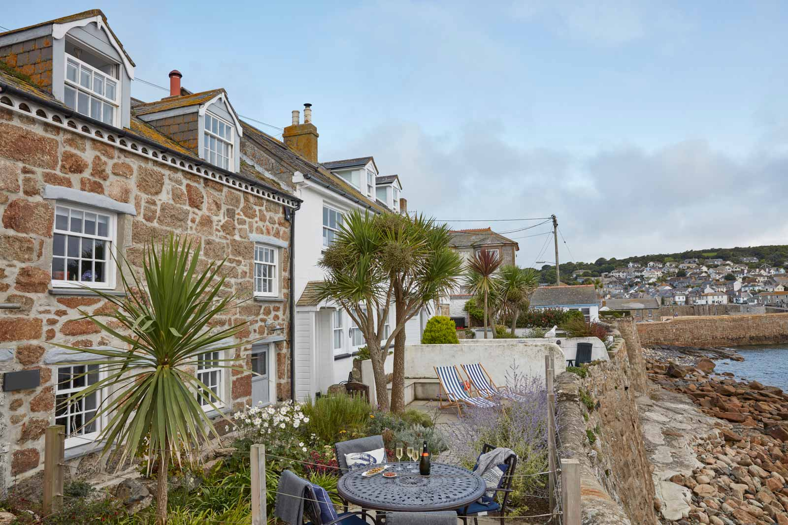 exterior of luxury cottage to rent in mousehole cornwall